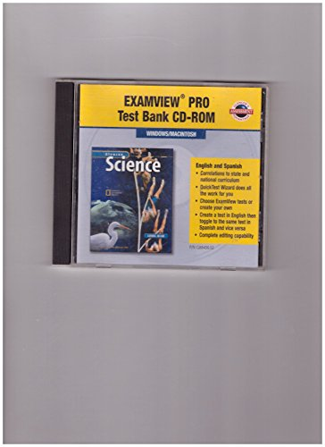 9780078288081: ExamView Pro Test Bank CD-ROM (Glencoe Science Level Blue)