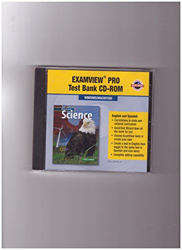 9780078288388: Glencoe Science, Level Green, Examview Test Bank Software