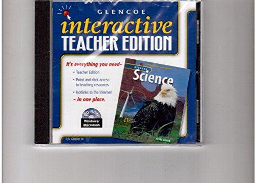 9780078288401: Interactive Teacher Edition CD-ROM Level Green (Glencoe Science)