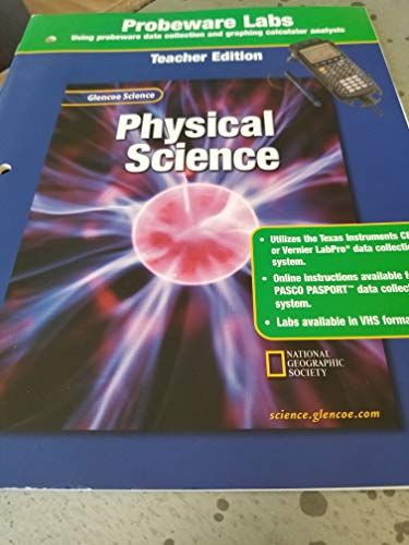 9780078289620: Glencoe Science: Physical Science, Probeware Lab Manual