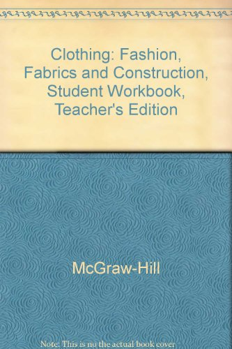 Clothing Fashion, Fabrics & Construction Teacher Resource