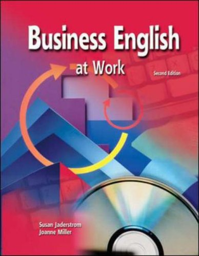 9780078290824: Business English at Work, Text-Workbook