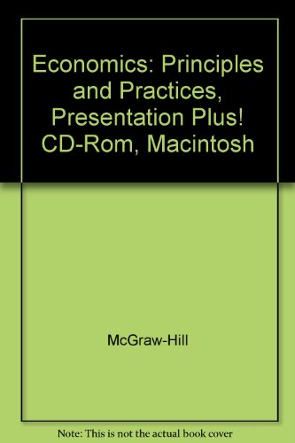 9780078292576: Economics: Principles and Practices, Presentation Plus! CD-Rom, Macintosh