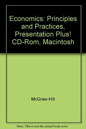 9780078292576: Economics: Principles and Practices, Presentation Plus! CD-Rom, Macintosh