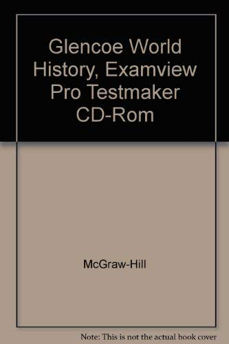 9780078292781: Glencoe World History, Examview Pro Testmaker CD-Rom
