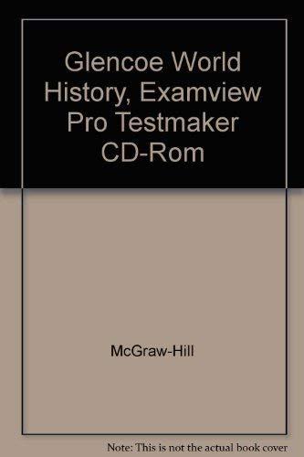 9780078292781: Glencoe World History Examview Pro Testmaker