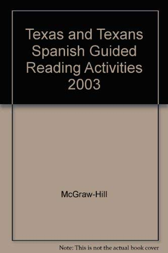 9780078293573: Texas and Texans Spanish Guided Reading Activities 2003