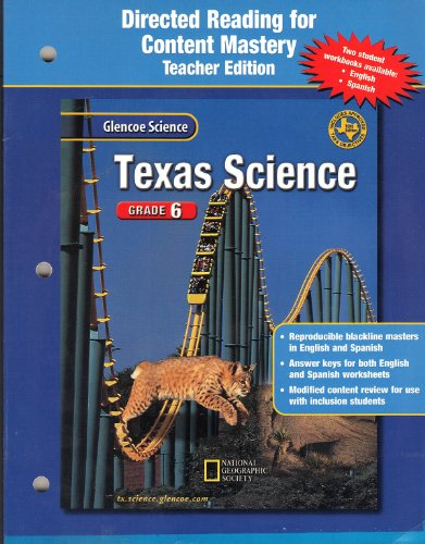 9780078294037: Texas Science Directed Reading for Content Mastery Teacher Edition - Grade 6