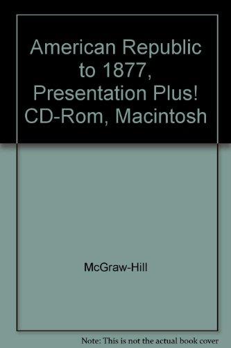 American Republic to 1877, Presentation Plus! CD-Rom, Macintosh [Import.: McGraw-Hill