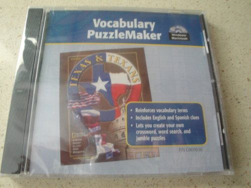 9780078296116: Texas and Texans Vocabulary Puzzlemaker CD-Rom 2003
