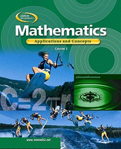 9780078296352: Course 3 Applications and Concepts (Glencoe Mathematics)