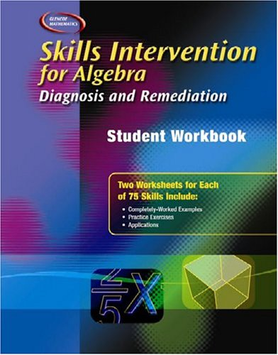9780078299490: Skills Intervention for Algebra: Diagnosis and Remediation, Student Workbook (Glencoe Mathematics)