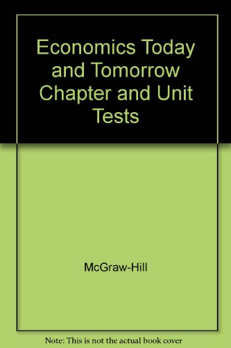 9780078301131: Economics Today and Tomorrow Chapter and Unit Tests