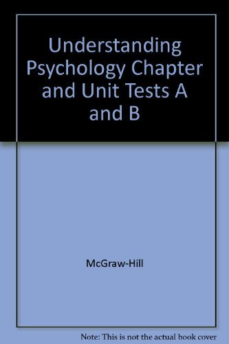 9780078301186: Understanding Psychology Chapter and Unit Tests a and B