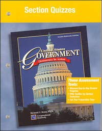 9780078301247: United States Government: Democracy in Action, Section Quizzes