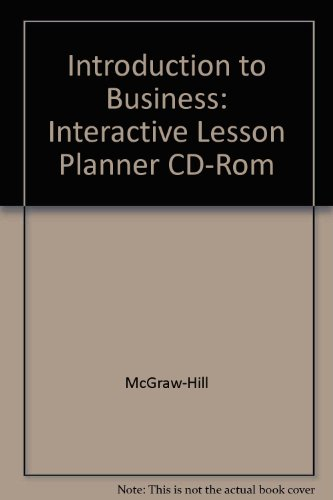 9780078304187: Interactive Lesson Planner with Teacher Resources CD-ROM (Glencoe Introduction to Business)