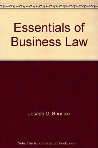 9780078305061: Essentials of Business Law