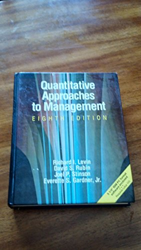 9780078324543: Quantitative Approaches to Management/Book and Disk (Schaum's Outline Series in Accounting, Business, & Economics)