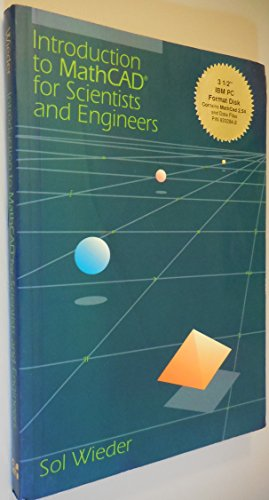9780078325168: Introduction to Mathcad for Scientists and Engineers