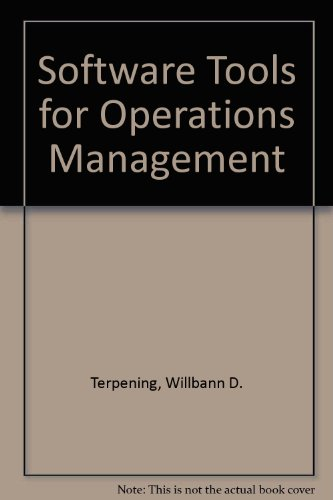 9780078325847: Software Tools for Operations Management