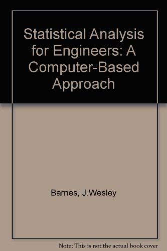 9780078396052: Statistical Analysis for Engineers and Scientists: A Computer-Based Approach/User's Manual to Accompany Statistical Analysis for Engineers and Scien