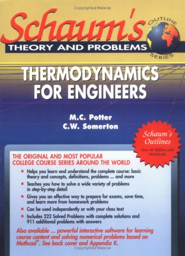 9780078427176: Schaum's Outline Theory and Problems: Thermodynamics for Engineers