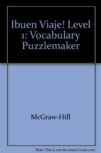 9780078453618: Ibuen Viaje! Level 1 Vocabulary Puzzle Maker CD-ROM