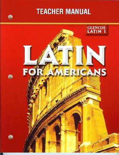 9780078457807: Latin for Americans, Glencoe Latin 1, Teacher Manual
