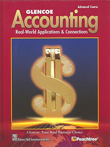 9780078461408: Glencoe Accounting Advanced Course Student Edition