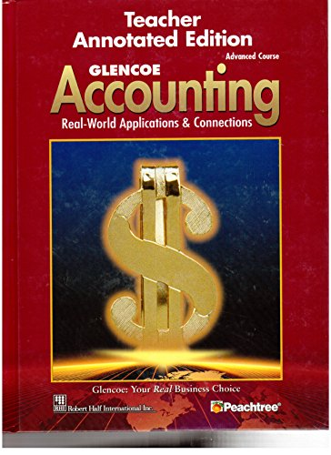 9780078461439: Accounting, Advanced Course: Teachers Annotated Edition