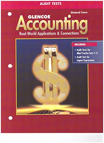9780078462009: Glencoe Accounting Advanced Course Audit Tests