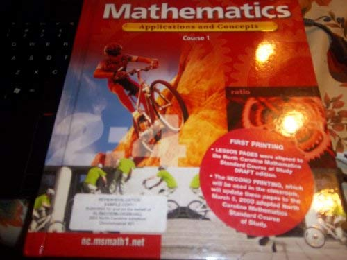 MATHEMATICS APPLICATIONS AND CONCEPTS CRS 1 {NC}: a