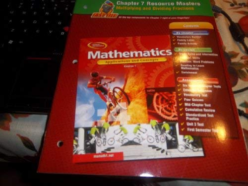 9780078600708: Mathematics: Applications and Concepts, Course 1, Chapter 7 Resource Masters