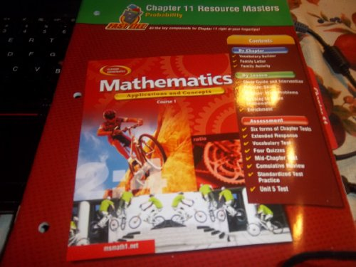 9780078600746: Mathematics: Applications and Concepts, Course 1, Chapter 11 Resource Masters