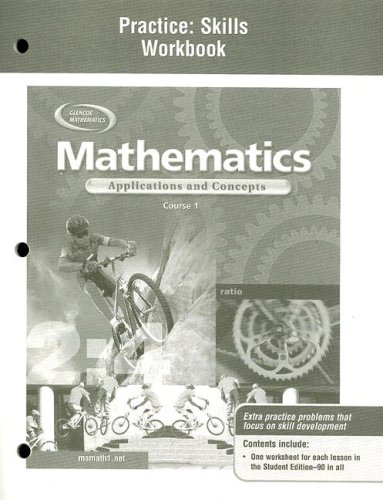 9780078600869: Mathematics: Applications and Concepts, Course 1, Practice Skills Workbook
