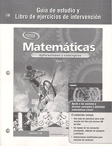 9780078600913: Mathematics: Applications and Concepts, Course 1, Spanish Study Guide and Intervention Workbook