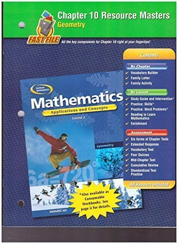 9780078601095: Glencoe Mathematics, Applications and Concepts, Course 2. Chapter 2 Resource Masters.