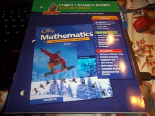 9780078601118: Glencoe Mathematics, Applications and Concepts, Course 2. Chapter 4 Resource Masters.