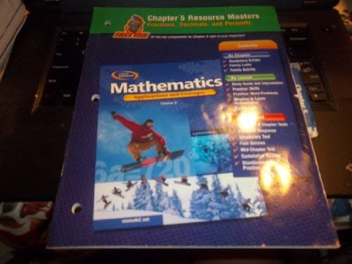 9780078601125: Glencoe Mathematics, Applications and Concepts, Course 2. Chapter 5 Resource Masters.