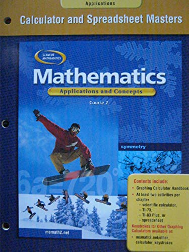 9780078601248: Mathematics: Applications and Concepts, Course 2, Calculator and Spreadsheet Masters