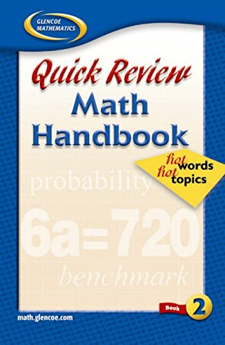 9780078601262: Quick Review Math Handbook: Hot Words, Hot Topics, Book 2, Student Edition