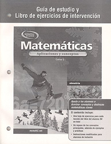 9780078601347: Mathematics: Applications and Concepts, Course 2, Spanish Study Guide and Intervention Workbook