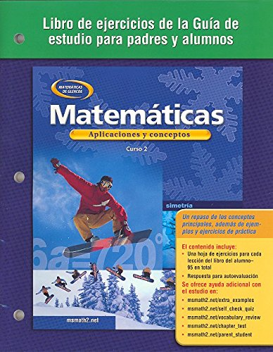 9780078601378: Mathematics: Applications and Concepts, Course 2, Spanish Parent and Student Study Guide Workbook