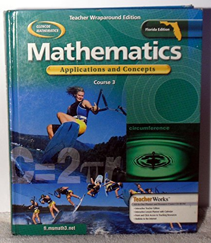 9780078601422: Glencoe Mathematics: Applications & Concepts, Course 3,  Florida Teacher's Edition