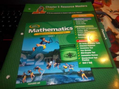 9780078601484: Mathematics: Applications and Concepts, Course 3, Chapter 5 Resource Masters (Percent)
