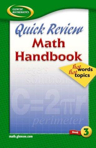 9780078601606: Quick Review Math Handbook: Hot Words, Hot Topics, Book 3, Student Edition