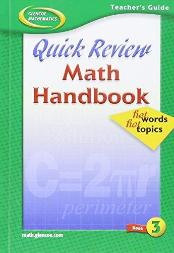 Quick Review Math Handbook, Book 3, Teacher's