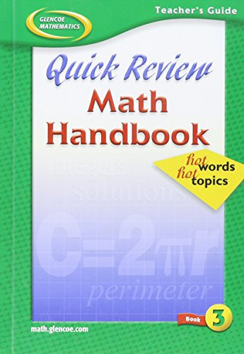 9780078601613: Quick Review Math Handbook (Mathematics Applications and Concepts Course 3)