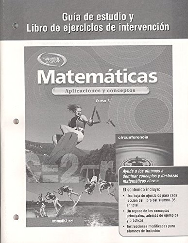 9780078601682: Mathematics: Applications and Concepts, Course 3, Spanish Study Guide and Intervention Workbook