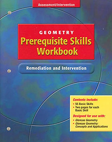9780078602009: Geometry Prerequisite Skills Workbook: Remediation and Intervention
